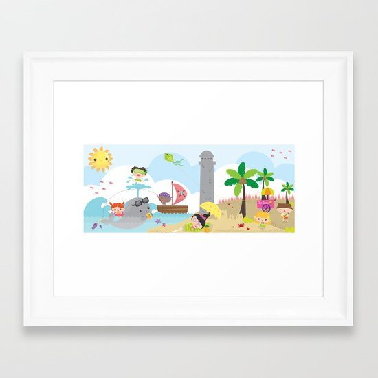 summer party Framed Art Print