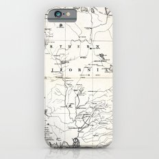 Northern California Map 1866 iPhone 6s Slim Case