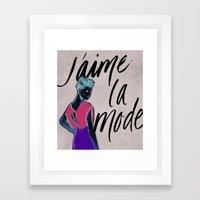 I Love Fashion Framed Art Print