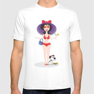 Martini Girl Mens Fitted Tee White SMALL