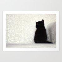 Sitting Kitty Art Print