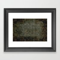 The Binary Code - Distre… Framed Art Print