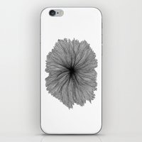 Jellyfish Flower B&W iPhone & iPod Skin