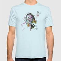 Stevie Wonder Mens Fitted Tee Light Blue SMALL