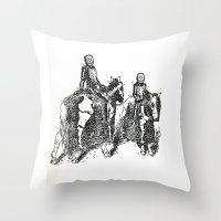 X-Ray Horsemen Throw Pillow