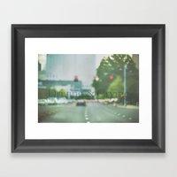 Driving & Crying Framed Art Print