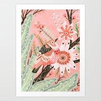 Little Pink Bird Art Print