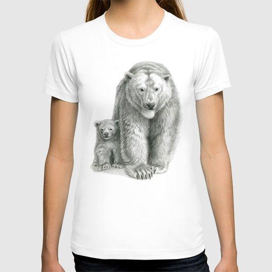 Polar bear and cub SK041 T-shirt