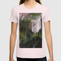 White Rose Womens Fitted Tee Light Pink SMALL