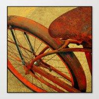 Vintage Bike Fall Home Decor Color Canvas Print
