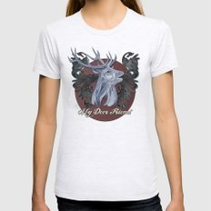 My Deer Friend / Version 2 Womens Fitted Tee Ash Grey SMALL