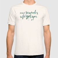 Remember to Forget Mens Fitted Tee Natural SMALL