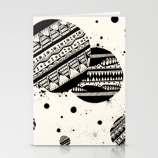 Pattern Doodle One Stationery Card