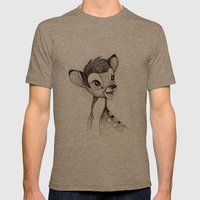 Bambi Mens Fitted Tee Tri-Coffee SMALL