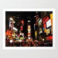 Time Square Doesn't Slee… Art Print