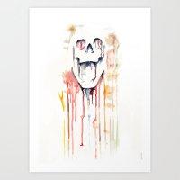 skull drips  Art Print