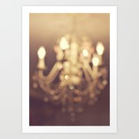 Dreamy Chandelier Art Print