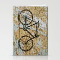 Bike Ride In New York Ci… Stationery Cards