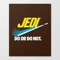 Brand Wars: Jedi - blue lightsaber Canvas Print