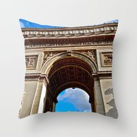 Arc de Triomphe: Paris, France Throw Pillow