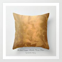 Brushed Copper Metallic … Art Print