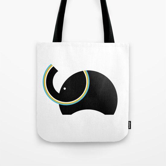 Retro Elephant Tote Bag