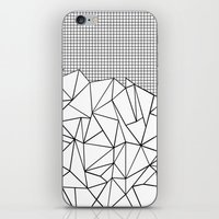 Abstract Outline Grid Bl… iPhone & iPod Skin