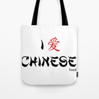 I Love Chinese Tote Bag
