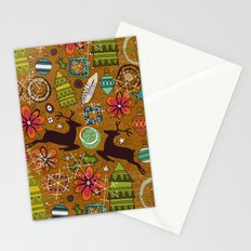 joyous jumble gold Stationery Cards