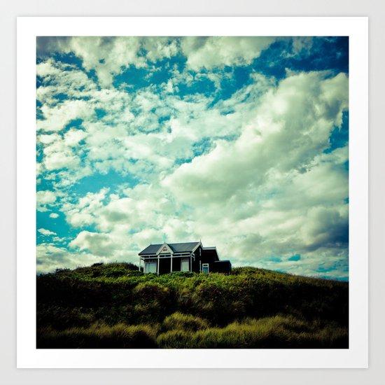 Beach house art print by mark nelson society6 for Beach house prints