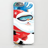 Santa Skiing 1 iPhone 6 Slim Case