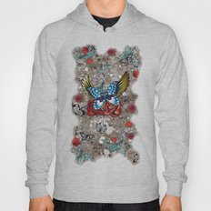 Butterfly With Roses Hoody