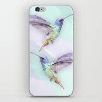Humming Bird In Watercol… iPhone & iPod Skin