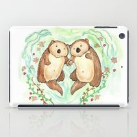 Otters Holding Hands iPad Case
