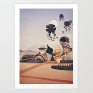 Art Print featuring Fear And Loathing On Tat… by Anton Marrast