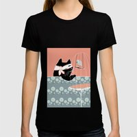 Kitty Bandit Womens Fitted Tee Black SMALL