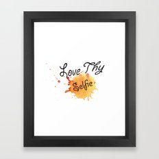 Love Thy Selfie Framed Art Print
