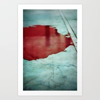 Pool Of Blood Art Print