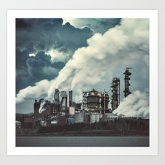 Factory of Grunge Art Print