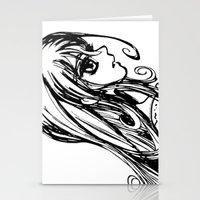 Vampire girl Stationery Cards