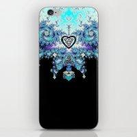 Celtic Fractal Celtic Heart Tapestry iPhone & iPod Skin