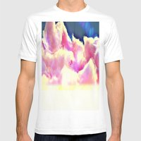 COTTON CANDY CLOUDS Mens Fitted Tee White SMALL