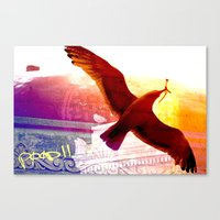 City Birds 01 Canvas Print