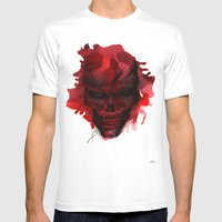 Red Skull Mens Fitted Tee White SMALL
