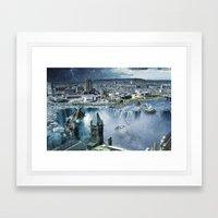 Earth Falls Away Framed Art Print