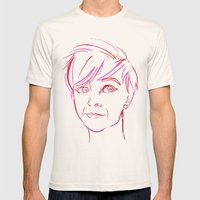 Pink Portrait Mens Fitted Tee Natural SMALL