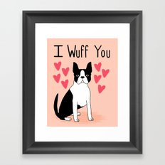 Valentine's Day Boston T… Framed Art Print
