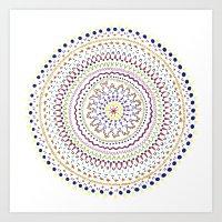 Mandala Smile A Art Print