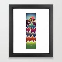 山よ Framed Art Print