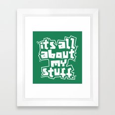 All about it. Framed Art Print